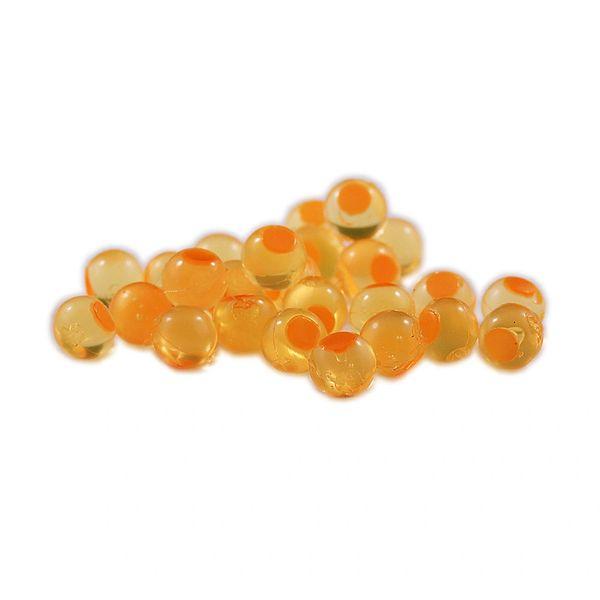Embryo Soft Beads: Natural Orange with Orange Dot