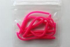 Trout Worms: Hot Pink.
