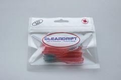 Steelhead Worms: Candy Apple/Light-Blue Tail