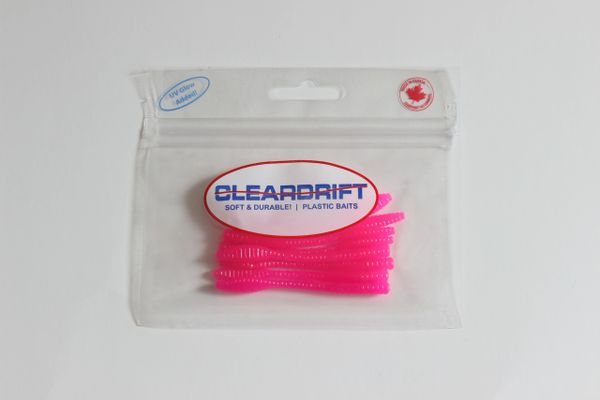 Ultra-Light Steelhead Worms: Hot Pink