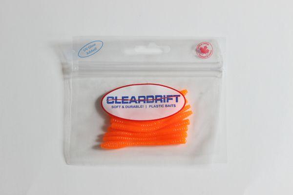 Ultra-Light Steelhead Worms: Hot Orange