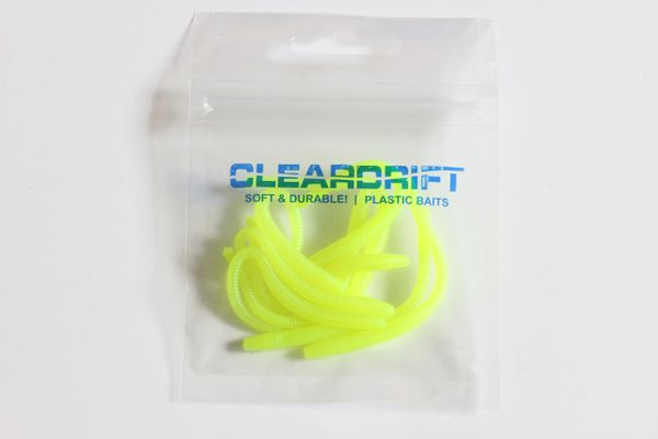 Glow Series: Trout Worms - Bright Chartreuse