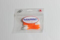 Pearl Series: Ultra-Light Steelhead Worms - Orange Pearl/White Tail