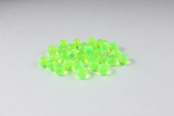 Clear Soft Beads: Lime.