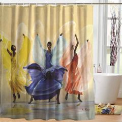 Designer Shower Curtain & Mat Sets