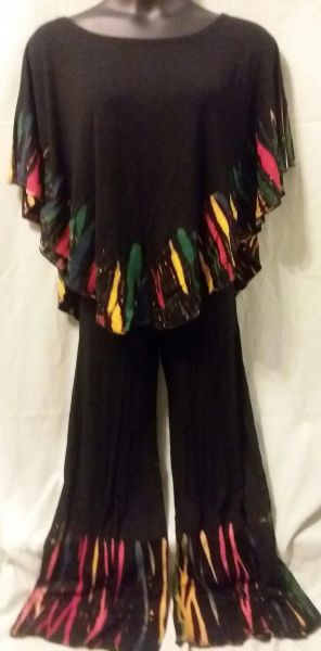 Tie Dye Scoop Poncho Set