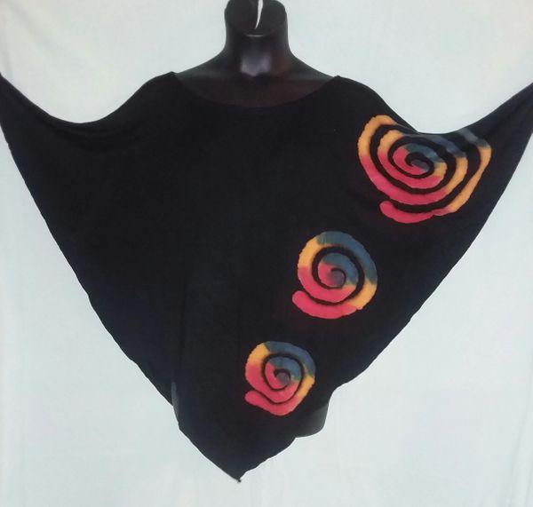 Tie Dye Poncho Circles