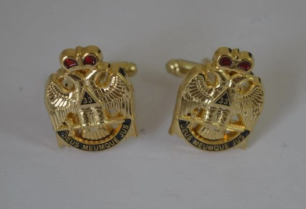 33rd Degree South Eagle Cufflink & Lapel Pin set