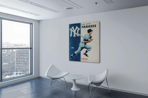 1956 New York Yankees Baseball Yearbook Canvas