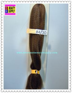 100 % kanekalon braid hair color 4 / 30 dark brown light brown mix dreadlock dread lock kanekalon synthetic braid hair dreadlock dread lock doll reroot paty COSTUME crown stage play color extension 38 inch long (when unfold it ) 2 oz w.t