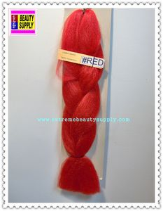 100 % kanekalon braid hair color color RED dreadlock dread lock kanekalon synthetic braid hair dreadlock dread lock doll reroot paty COSTUME crown stage play color extension 38 inch long (when unfold it ) 2 oz w.t