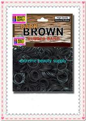 small rubber band dark brown color pony tail holder braid hair scrunchies bracelet girl cheerleader Size 1/2 inch diameter