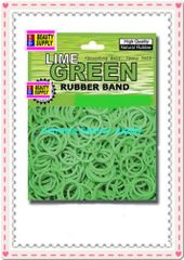 small rubber band lime green color pony tail holder braid hair scrunchies bracelet girl cheerleader Size 1/2 inch diameter
