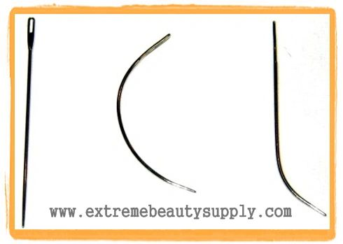 hair extensions sew sewing braids track weave needle J curve J straight