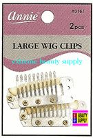 "Annie Wig Clips 2 count pcs size "" LARGE or SMALL color "" sliver "" clip in extension clip weave high light clip"