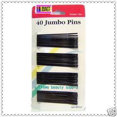big long black bobby pins bob pin Secure girl clip color Bow clamp roller pin rubber tips 2 3/4 inch long & 40 coun