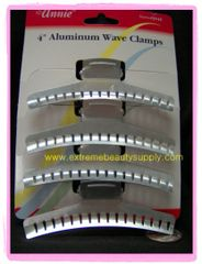 """4 """" inch long ALUMINUM WAVE CLAMPS 4 PCS HOLDS ALL HAIR STYLES"""