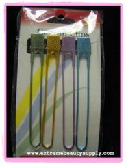annie control clips BLUE, GREEN, PURPLE, GOLD HAIR SECTIONING CLIPS FOR DIFFERENT STYLES 4 CLIPS COLOR: ASSORTED