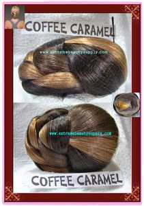 "COFFEE CARAMEL color hair dome piece (sell by 1 pc) bun chignon wiglet clamp fashion pony tail pre styled Ballet PAGEANT Tressallure updo hairdo up do hair do Dance Size 5"" 1/2 x 4 "" 1/2 x 2"" 3/8 high"