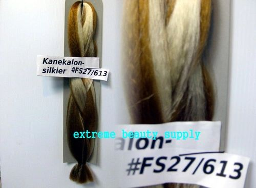SILKIER silky color # FS 27 / 613 HONEY BLOND / BLEACH BLOND Afrelle kanekalon synthetic braid hair dreadlock dread lock doll reroot paty COSTUME crown stage play