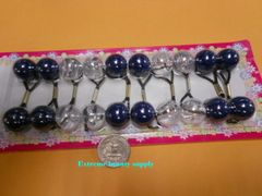 clear ball navy blue ELASTIC TIE JUMBO BEADS HAIR KNOCKER GIRL SCRUNCHIE BALLS PONYTAIL HOLDER tie