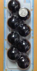 big black ELASTIC TIE JUMBO BEADS HAIR KNOCKER GIRL SCRUNCHIE BALLS PONYTAIL HOLDER