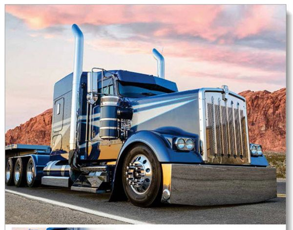 Kenworth Peterbilt mack International Freightliner western star American custom big long TRUCK trucking 2017 Wall Calendar