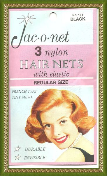 Jac O Net Black retro very thin franch tiny mesh 161 nylon hair 3 nets