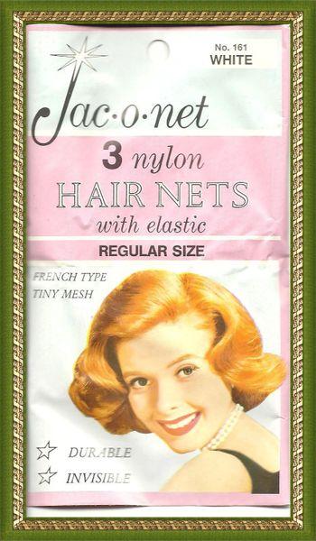 Jac O Net White franch tiny retro very thin thin mesh 161 nylon hair 3 nets