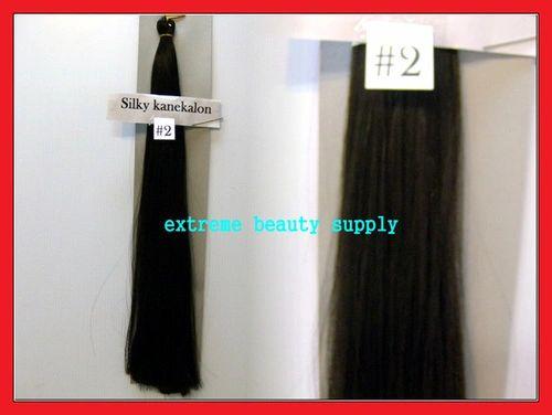 straight silky color # 2 DARKEST BROWN 100% kanekalon synthetic braid hair dreadlock dread lock doll reroot paty COSTUME crown stage play