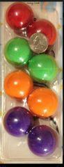 big ELASTIC orange green purple JUMBO BEADS HAIR TIE KNOCKER GIRL SCRUNCHIE BALLS PONYTAil hol