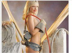 construction sexy helper the Building Babes tool girl Babe bikini 2020 Wall Calendar
