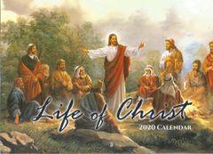 Bible Verses life of Christ Jesus born christian Planning 2020 Wall Calendar