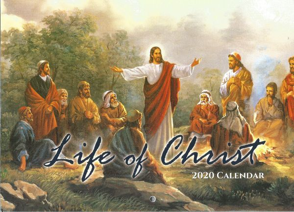 Bible Verses life of Christ Jesus born christian Planning 2020 Wall Calendar