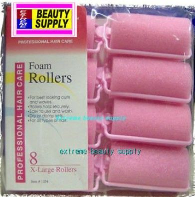 "Foam roller 1 1/4"" x 2 1/2"" 8 count pink dry damp set"
