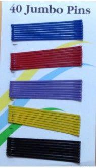 black Secure girl clip bobby cute cheerleader band bob pins rubber tips 1 7/8 inch long long 60 count