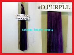 straight silky color DARK PURPLE 100% kanekalon synthetic braid hair dreadlock dread lock doll reroot paty COSTUME crown stage play