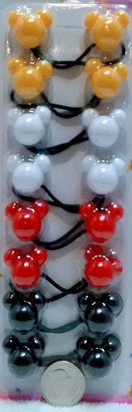 white yellow black red mouse ELASTIC tie jumbo beads hair Knocker girl Scrunchie Balls Ponytail Holder