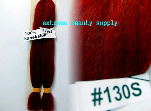 100 % kanekalon braid hair color special RED mix 130s - dreadlock dread lock kanekalon synthetic braid hair dreadlock dread lock doll reroot paty COSTUME crown stage play color extension 38 inch long (when unfold it ) 2 oz w.t