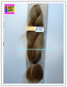 100 % kanekalon braid hair lightblond brown color 10 dreadlock dread lock kanekalon synthetic braid hair dreadlock dread lock doll reroot paty COSTUME crown stage play color extension 38 inch long (when unfold it ) 2 oz w.t