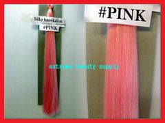straight silky color PINK 100% kanekalon braid hair dreadlock dread lock doll reroot paty stage play