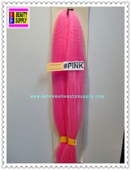 100 % kanekalon braid hair color pink dreadlock dread lock kanekalon synthetic braid hair dreadlock dread lock doll reroot paty COSTUME crown stage play color extension 38 inch long (when unfold it ) 2 oz w.t