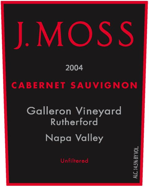 2004 Galleron Vineyard, Rutherford Cabernet Sauvignon (Library Wine)