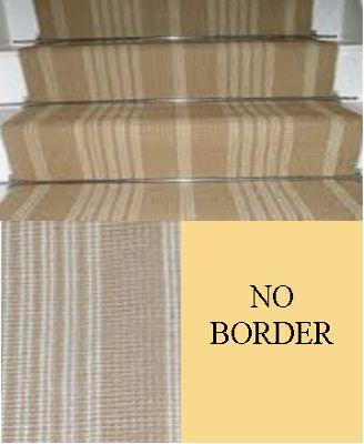 H. Jute Striped Natural and Bleach 7.5mx55cm