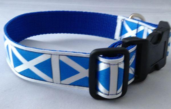 Saltire Dog Collar Handmade