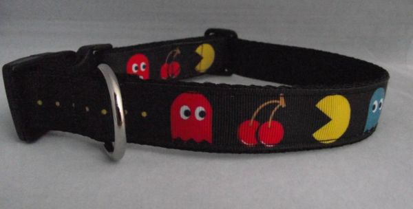 PacMan Dog Collar Handmade