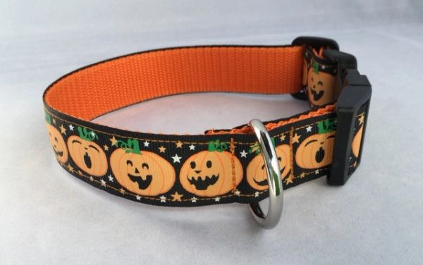 Halloween Pumpkin Dog Collar Handmade