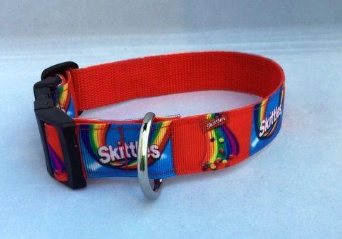Skittles Handmade Dog Collar