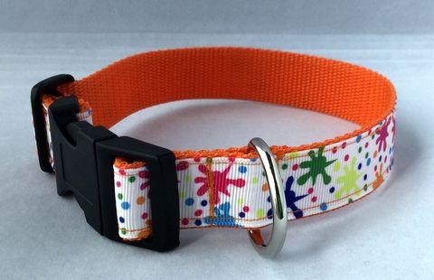 Paint Splodge Handmade Dog Collar