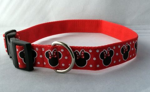 Mouse Ears Dog Collar Handmade
